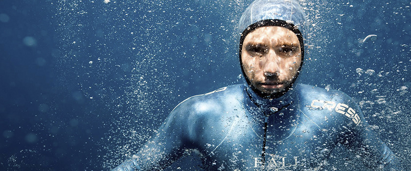 Taking a deep breath with freediving champion Guillaume Néry